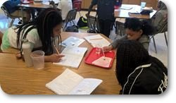 6th grade scientists working on their 1st experiment of the year.